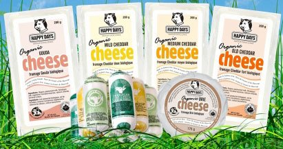 Organic cheeses by Happy Days