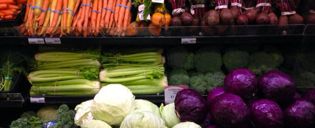 Fresh organic produce from blush lane