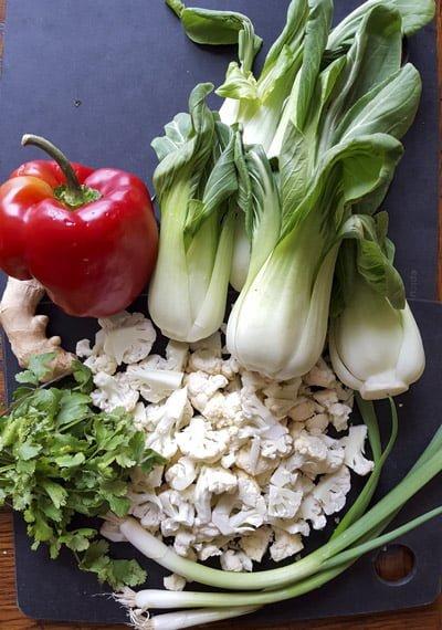bok choy stir fry ingredients