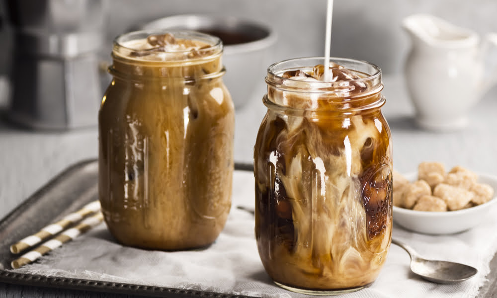 A Cafe-Quality Iced Latte You Can Make At Home