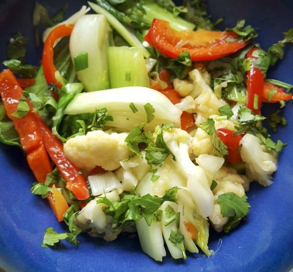 Organic Baby Bok Choy & Cauliflower Stir Fry