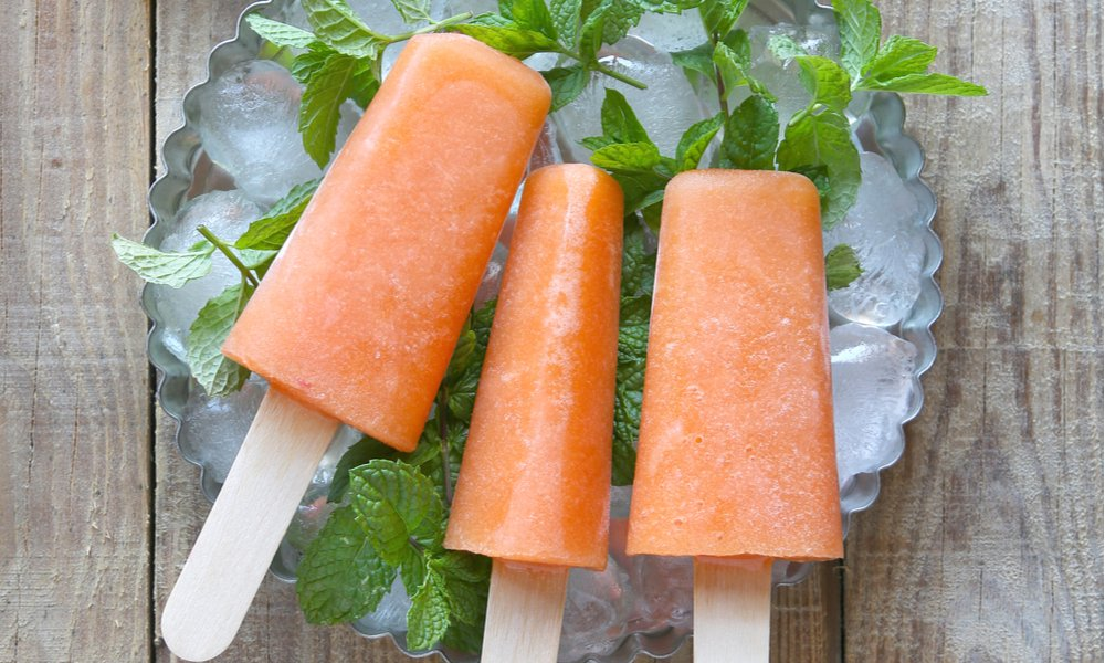 2-Ingredient Creamy Cantaloupe Popsicles