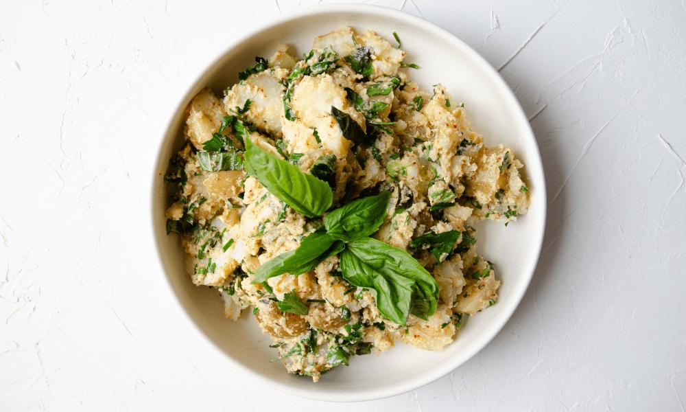 herby creamy potato salad